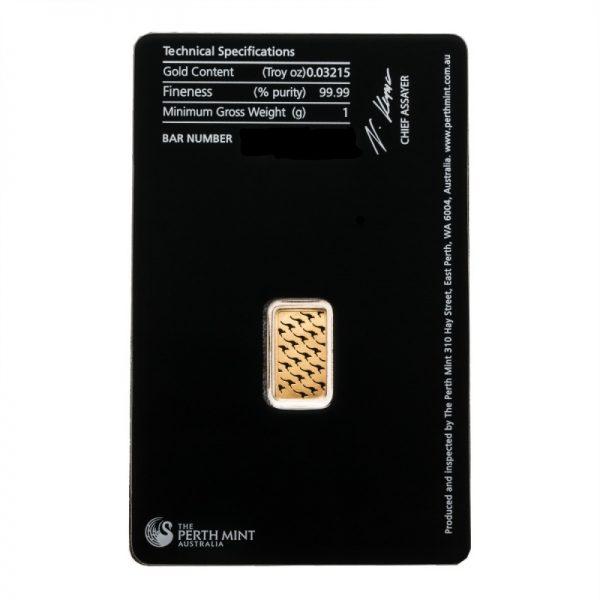 1 gram Perth Mint Gold Bar .9999