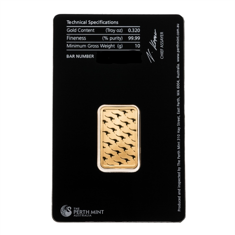 10 gram Perth Mint Gold bar