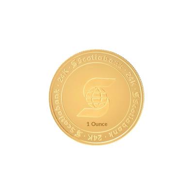 1 oz Gold Scotia Round Bar