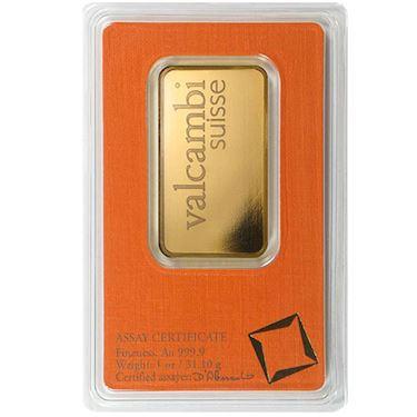 1 oz Valcambi Suisse Gold bar