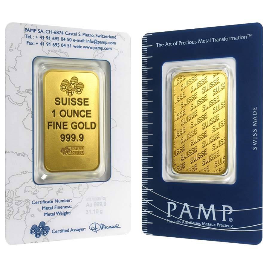 1 oz PAMP Suisse Gold Bar