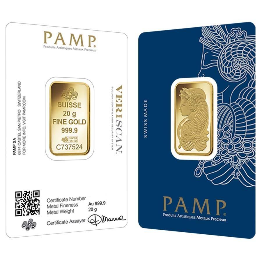 20 gram PAMP Gold bar 999.9