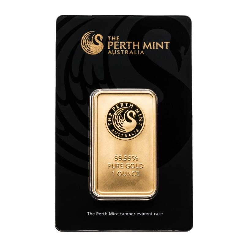 1 oz Perth Mint Gold Bar.9999