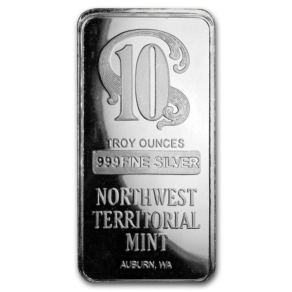10 oz Northwest Territorial mint- Silver Bar