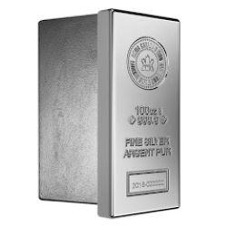 100 oz Royal Canadian Mint Silver