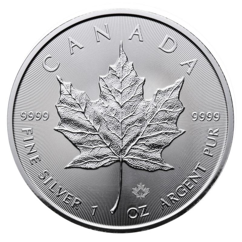 CANADIAN SILVER MAPLE LEAF 1 OZ .9999
