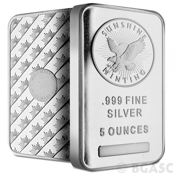 5 oz Sunshine Mint Silver Bar