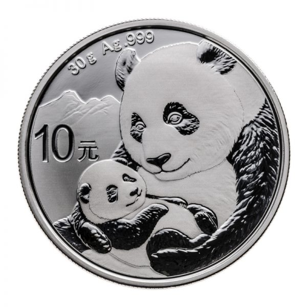 2019 CHINESE SILVER PANDA 30 GRAM .999