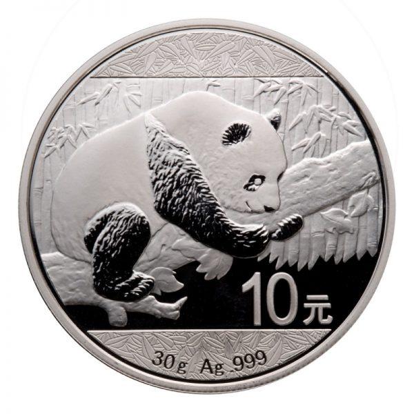 2016 CHINESE SILVER PANDA 30 GRAM .999