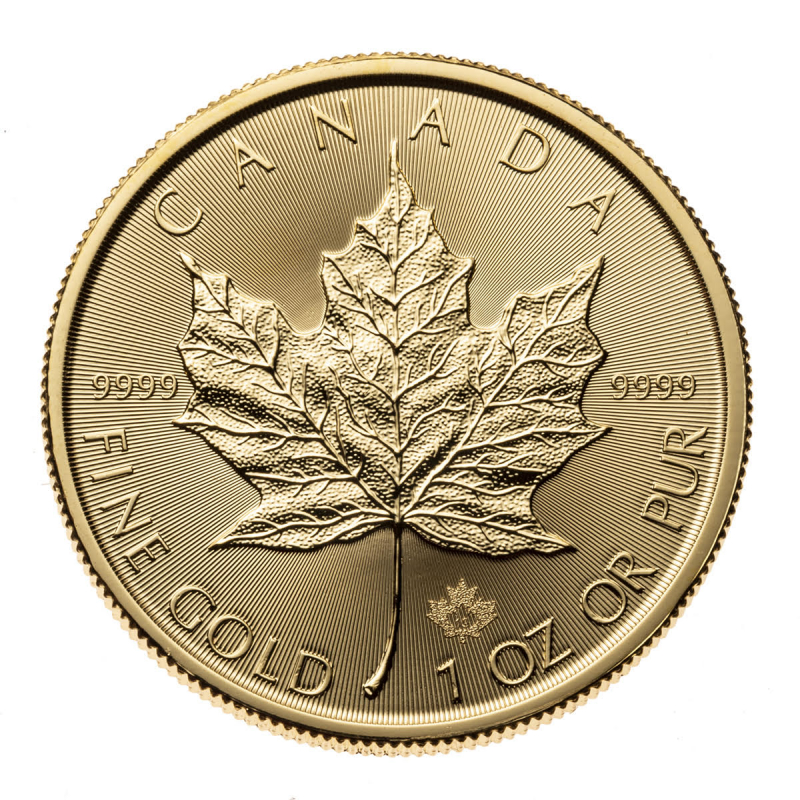 1 oz Canadian Maple Leaf Gold Coin .9999