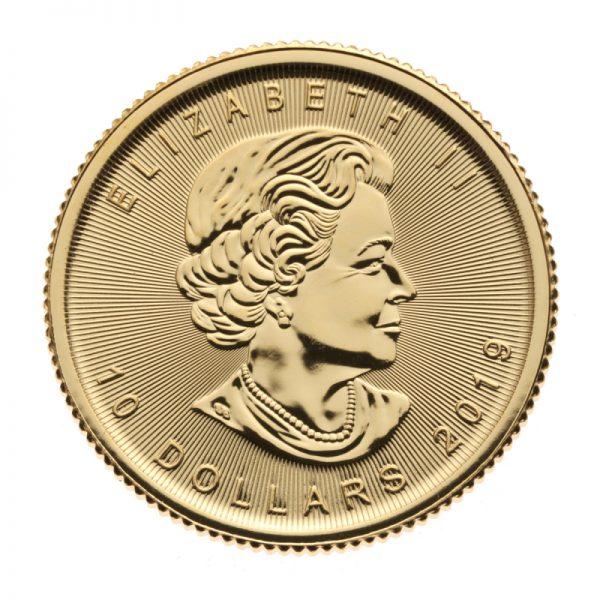 1/4 oz Canadian Maple Leaf Gold Coin .9999 Random Year