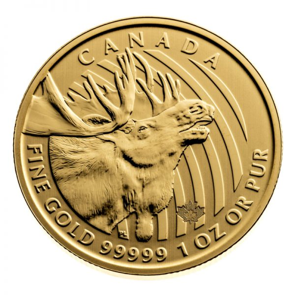 GOLD MOOSE 1 OZ .99999