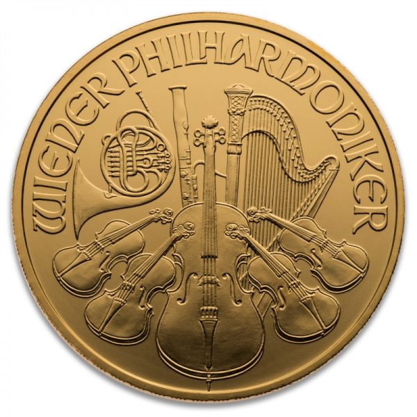 MISC. DATED (BACKDATED) AUSTRIAN GOLD PHILHARMONIC 1 OZ .9999
