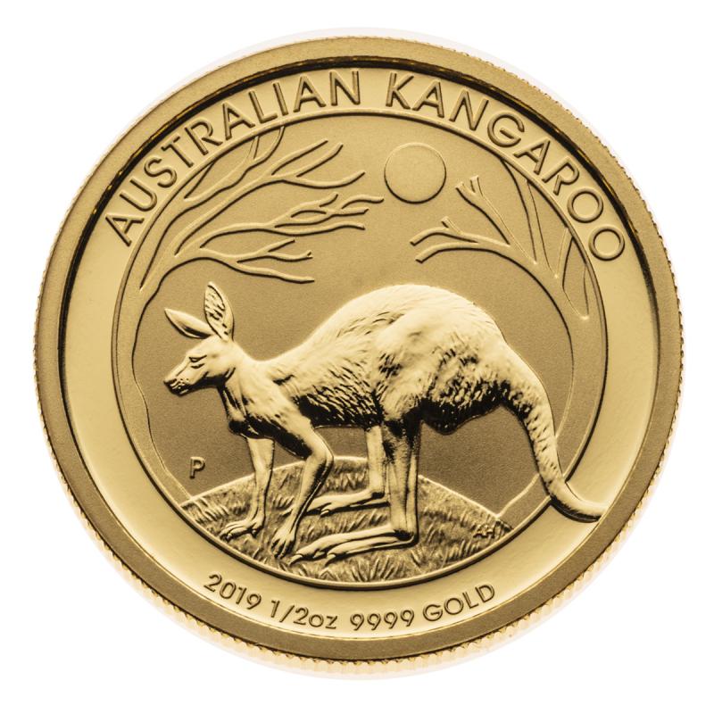 1/2 oz Australian Kangaroo Gold Coin .9999