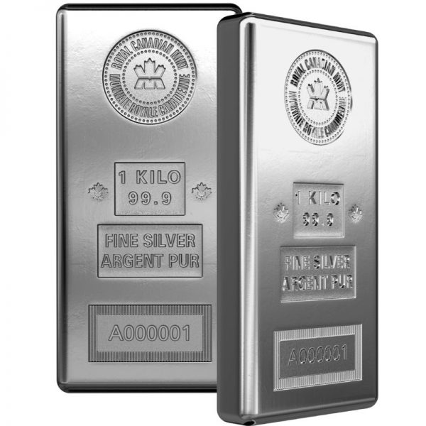 1 kg Royal Canadian Mint Silver Bar