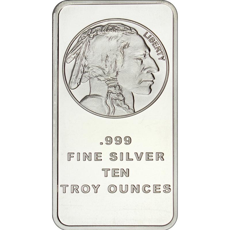 10 oz Buffalo Replica Silver Bar