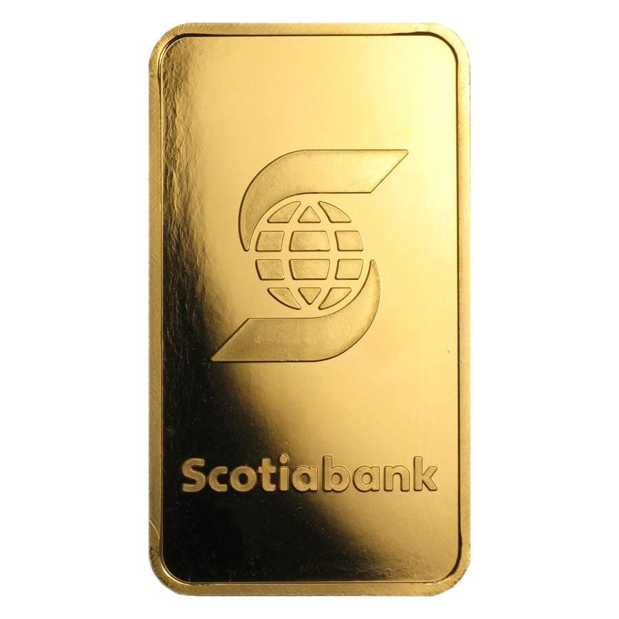 1 oz Scotiabank- Valcambi Suisse Gold Bar
