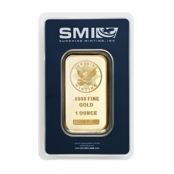 1 oz Sunshine Mint Gold Bar .9999