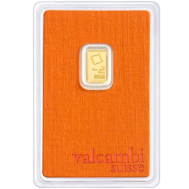 1 gram Valcambi Gold Bar .9999