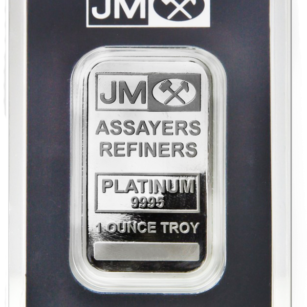 1 oz Johnson Matthey Platinum bar