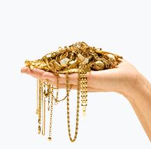 hand full of gold