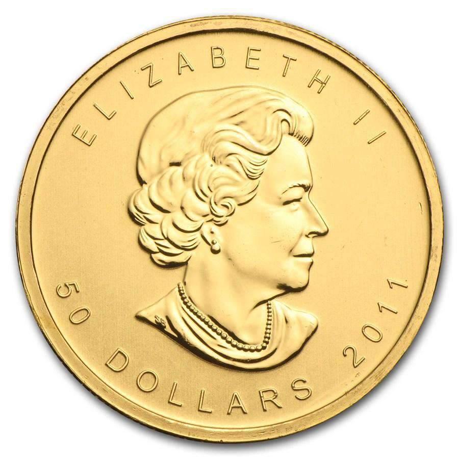 1oz Canadian Maple Leaf coin Random Year
