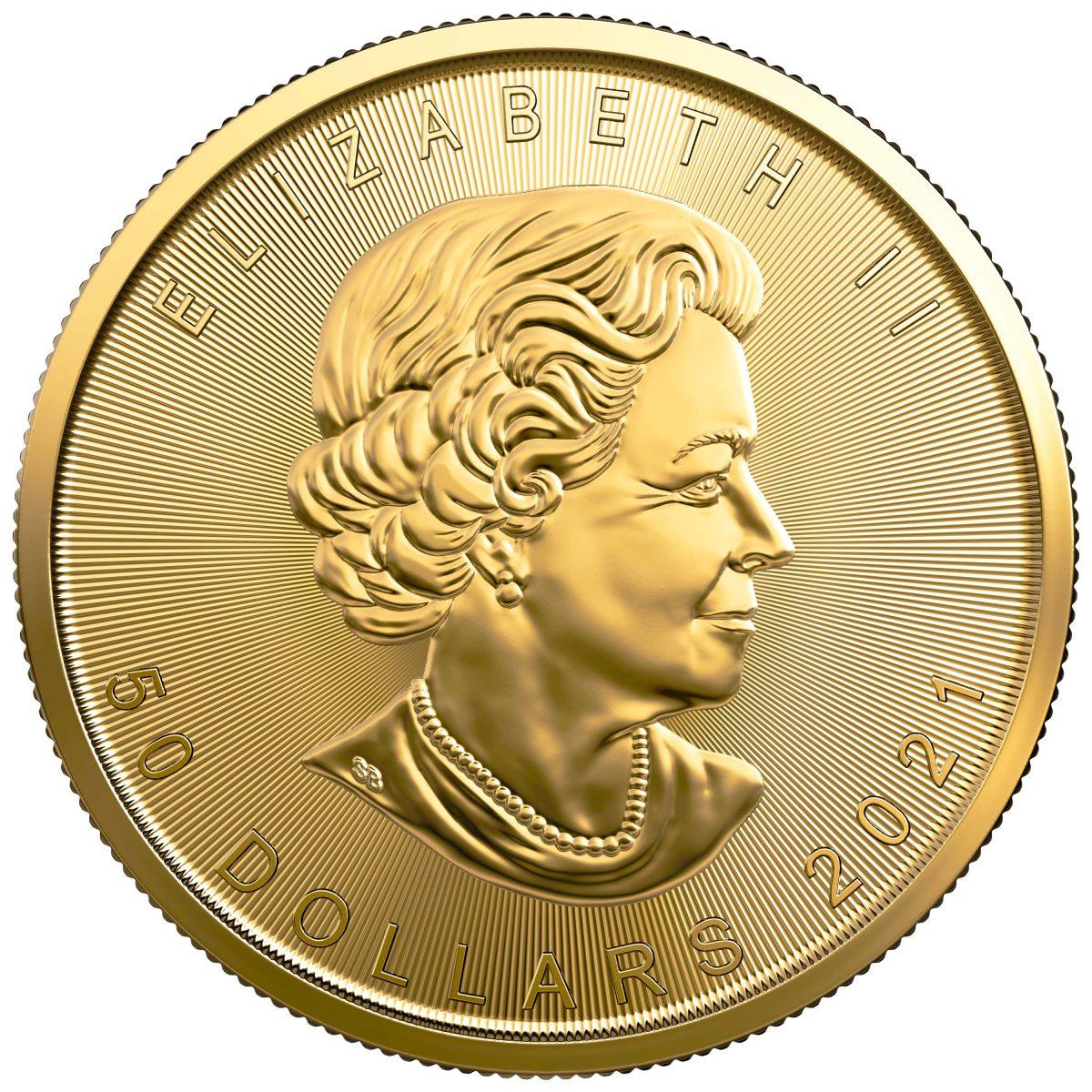 2021 Canadian Maple Leaf 1oz Coin .9999